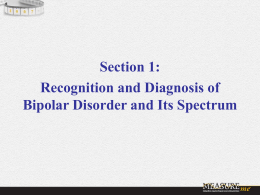 Challenges and Clinical Aspects of Diagnosing Bipolar