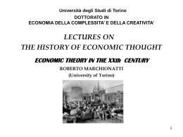 Roberto Marchionatti , ECONOMIC THEORY IN THE XXth …