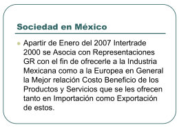 Intertrade 2000 - RepresentacionesGR