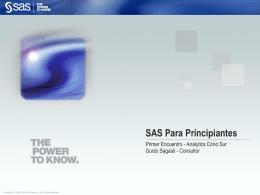 SAS Para Principiantes