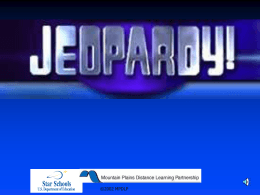 Research Jeopardy - Nebo School District
