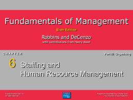 Fundamentals of Management 6e.