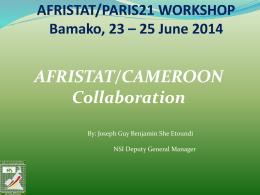 ATELIER AFRISTAT/PARIS21 Bamako, 23 – 25 juin 2014