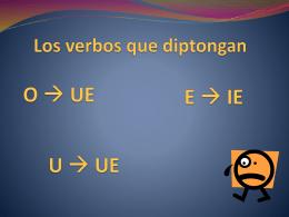 Los verbos que modifican de C Z