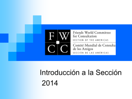 FWCC Section of the Americas