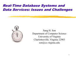 Real-Time Database Systems: Time Constraints and Their