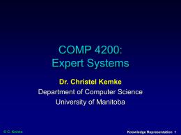 CS 74.420 Expert Systems