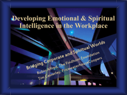 Developing Emotional & Spiritual Intelligence in the …