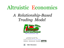 Altruistic Economics - Altruists International