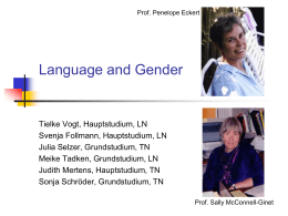 Language and Gender(1)
