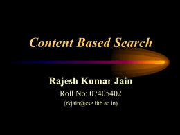 Content Based Search - Indian Institute of Technology …
