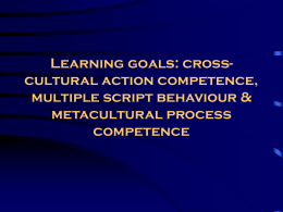 Learning goals: cross-cultural action competence