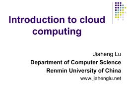 Hadoop - Lu Jiaheng's homepage