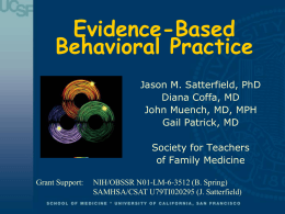 Evidence-Based Behavioral Practice: Essential Skills to