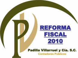 Reformas Fiscales 2010 - MINIFISCAL.COM Bienvenidos