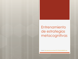 Entrenamiento de estrategias metacognitivas