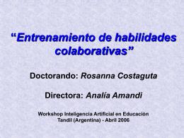 """Entrenamiento de habilidades colaborativas"""" Doctorando"""