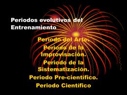 Periodos evolutivos del Entrenamiento