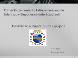 Primer Entrenamiento Latinoamericano de Liderazgo y