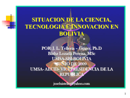 CONFERENCIAS J. L. TELLERIA – GEIGER, Ph.D