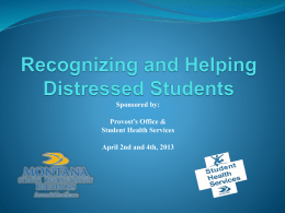Communicating with a Student in Distress