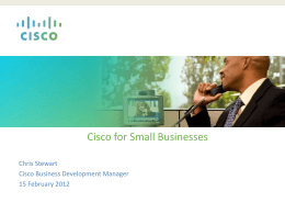 Cisco for Small Businesses