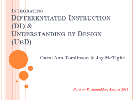Integrating Differentiated Instruction & Understanding by