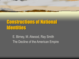 Constructions of National Identities