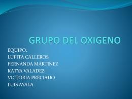 GRUPO DEL OXIGENO - Instituto Nueva Galicia Secundaria