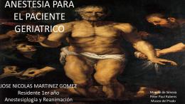 ANESTESIA PARA EL PACIENTE ANCIANO