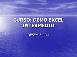 CURSO: DEMO EXCEL INTERMEDIO