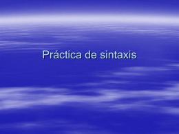 Practica de sintaxis