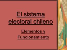 El sistema electoral chileno