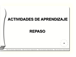 TECNICAS DE ESTUDIO - Facultad de Medicina UNAM