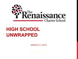 HIGH SCHOOL UNWRAPPED - The Renaissance Charter …