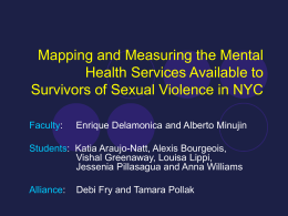 Mapping and Measuring the Mental Health Services …