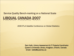 Bench-marking on a national scale