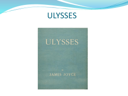 Notes on Ulysses - Istituto Luzzago