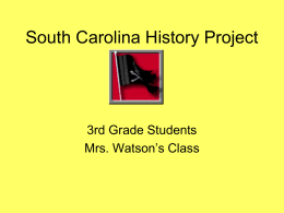 SC History Project - Dillon School District Four
