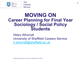 The University of Sheffield: PowerPoint template