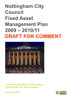 Nottingham City Council Asset Management Plan