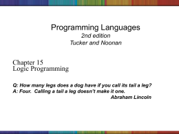 Programming Languages Chapter 2: Syntax
