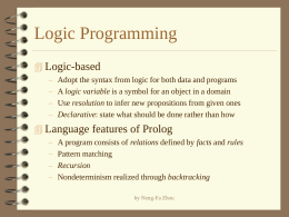 Syntax and Semantics of Prolog