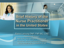 History of the Nurse Practitioner in the United States