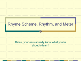 Rhythm and Meter - St. Louis Public Schools