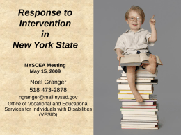 Response to Intervention in New York State