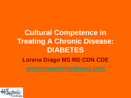 Cultural Competence in Treating A Chronic Disease: …