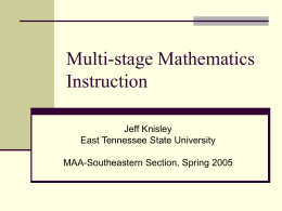 Teaching Mathematics: What our Students Learn and How …