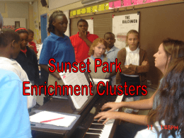 Enrichment Clusters - Sunset Park Elementary School