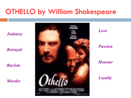 Introduction to Othello